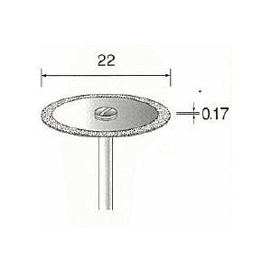 ミニター MINITOR MC1344 メタルボンドダイヤモンドカッティングディスク 外周 φ22 MC-1344