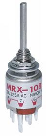 日本開閉器 NKK MRX-108 ロータリスイッチシャフトタイプ 10個セット MRX108