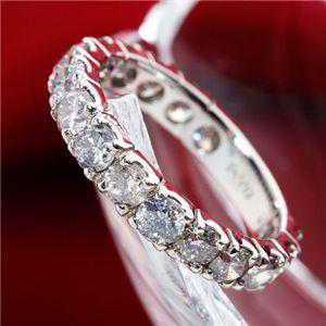 直送・代引不可2ctエタニティダイヤリング 指輪 鑑別付き 7号別商品の同時注文不可
