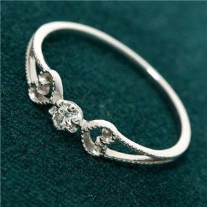 直送・代引不可K18WG アンティーク調ダイヤリング 指輪 17号別商品の同時注文不可