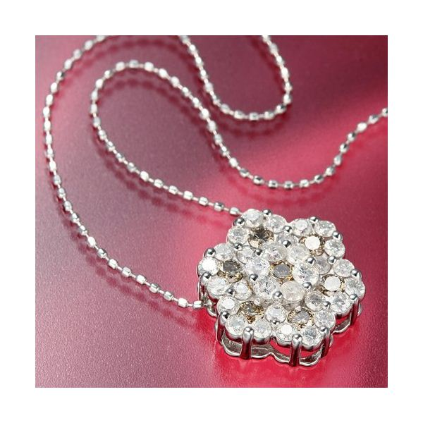 直送・代引不可K18WG 合計1ctダイヤモンドペンダント/ネックレス別商品の同時注文不可