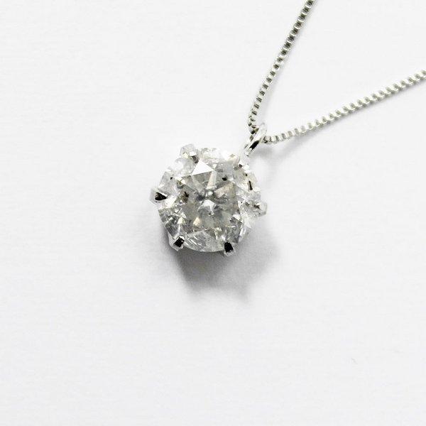 直送・代引不可 純プラチナ0.9ctダイヤモンドペンダント/ネックレス ベネチアンチェーン 別商品の同時注文不可