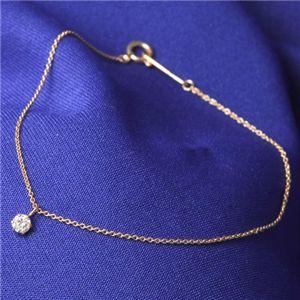 直送・代引不可K18PG ダイヤモンドブレスレット別商品の同時注文不可