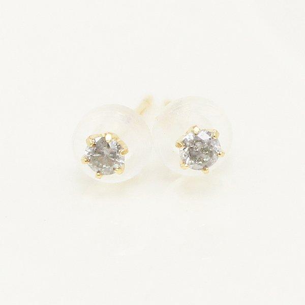 直送・代引不可 18金0.1ct一粒石ダイヤモンドスタッドピアス 別商品の同時注文不可