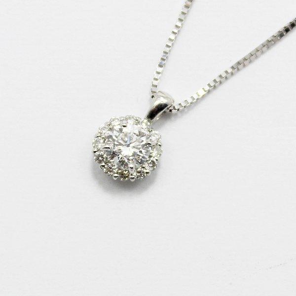 直送・代引不可 18金ホワイトゴールド0.2ctダイヤモンドペンダント/ネックレス 別商品の同時注文不可