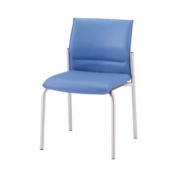 直送・代引不可ミーティング用チェアー No.4100S ブルー別商品の同時注文不可