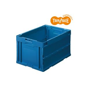 直送・代引不可(まとめ)TANOSEE 折りたたみコンテナ 75L ダークブルー 10台別商品の同時注文不可