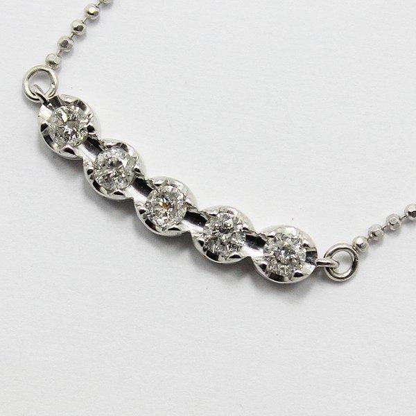 直送・代引不可 0.3ctダイヤモンド5ストーンペンダント 別商品の同時注文不可