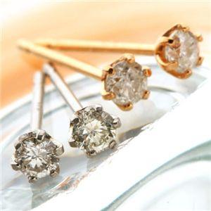 直送・代引不可18金ピンクゴールド ダイヤモンドピアス 0.1ct&18金ホワイトゴールドダイヤピアス 0.1ct別商品の同時注文不可