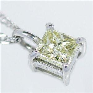 直送・代引不可K18WG プリンセスダイヤモンドペンダント/ネックレス別商品の同時注文不可