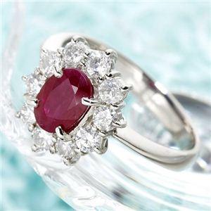 直送・代引不可プラチナ スリランカルビー1ctデカメレダイヤリング 指輪 15号別商品の同時注文不可