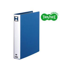 直送・代引不可(まとめ)TANOSEE 両開きパイプ式ファイル A4タテ 40mmとじ 青 30冊別商品の同時注文不可
