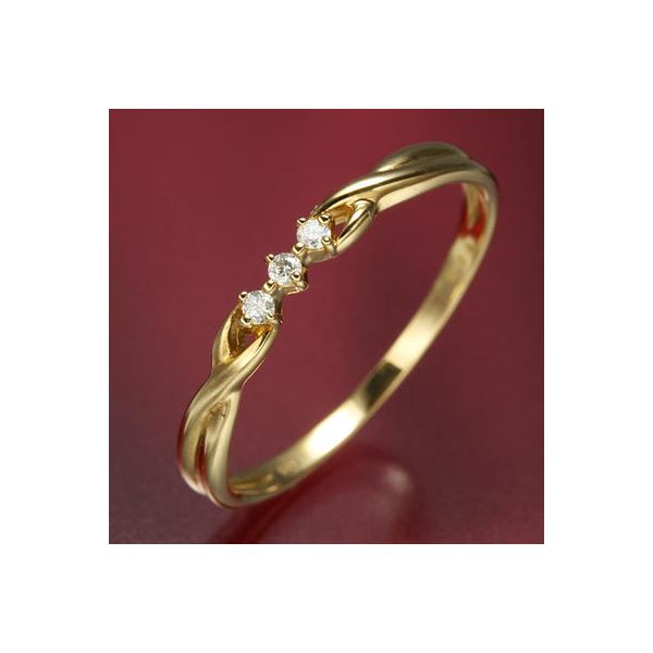 直送・代引不可K18ダイヤリング 指輪 デザインリング 21号別商品の同時注文不可