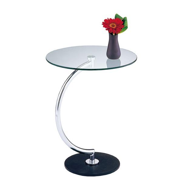 直送・代引不可あずま工芸 TOCOM interior(トコムインテリア) 強化ガラス製サイドテーブル 高さ55.5cm ガラス天板 LLT-8514別商品の同時注文不可