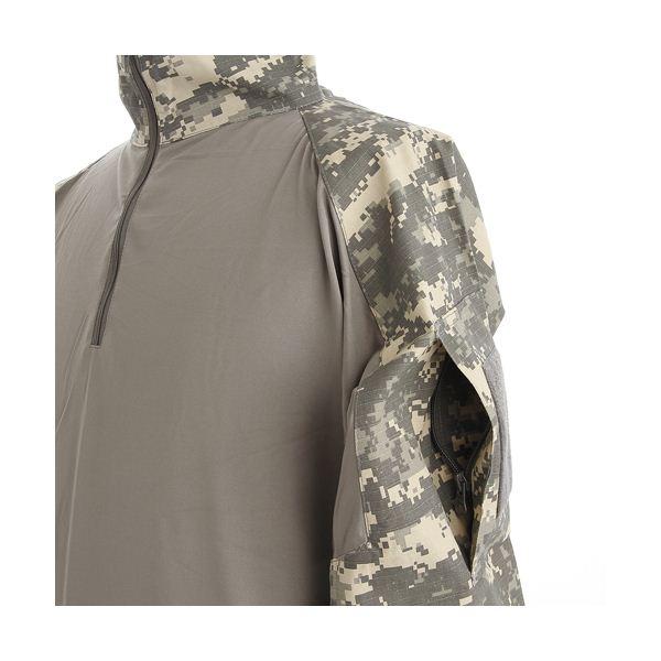 直送・代引不可CO MBAT ハーフジップシャツ ACU Lサイズ別商品の同時注文不可