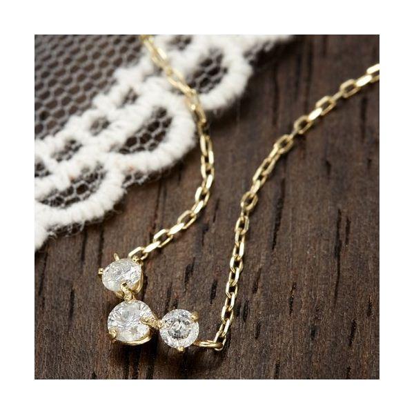 直送・代引不可K18YG0.2ctダイヤモンドプレミオールペンダント別商品の同時注文不可