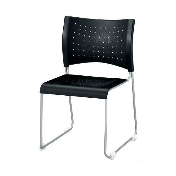 直送・代引不可ジョインテックス 会議椅子(スタッキングチェア/ミーティングチェア) 肘なし PP樹脂シート PS-15 ブラック 【完成品】別商品の同時注文不可