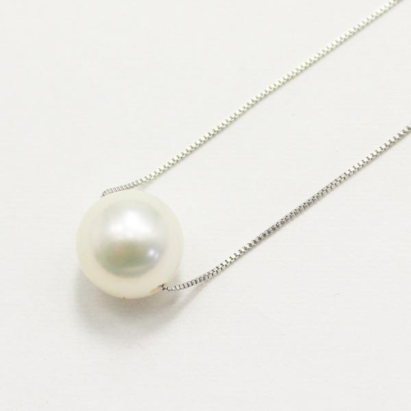 直送・代引不可10金ホワイトゴールド 8mm珠 花珠真珠 パール ペンダント別商品の同時注文不可
