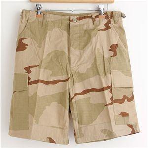 直送・代引不可アメリカ軍 BDU カーゴショートパンツ/迷彩服パンツ リップストップ 3カラーデザート別商品の同時注文不可