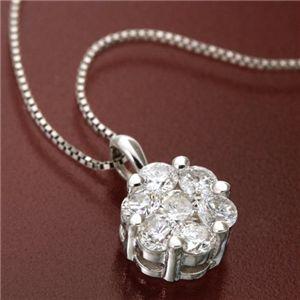 直送・代引不可K18WG インビジブルセッティングダイヤモンドペンダント/ネックレス別商品の同時注文不可