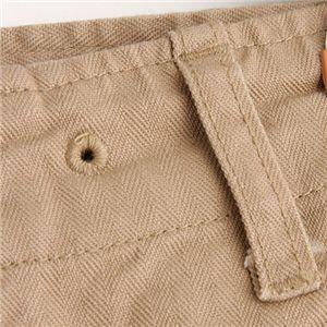 直送・代引不可M-44 ヒップピングポケットクロップドパンツ カーキ33別商品の同時注文不可