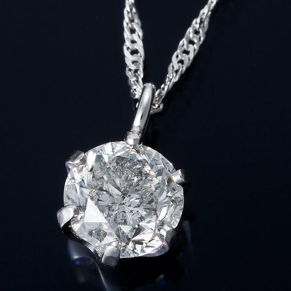 直送・代引不可K18WG 0.3ctダイヤモンドペンダント/ネックレス スクリューチェーン(鑑定書付き)別商品の同時注文不可