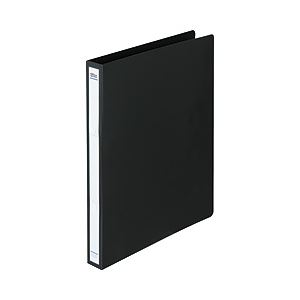 直送・代引不可リングファイル(タテ・2穴) ブラック 背幅:2.7cm 1箱(40冊) FM-BASIC-008 BK-ハコ別商品の同時注文不可