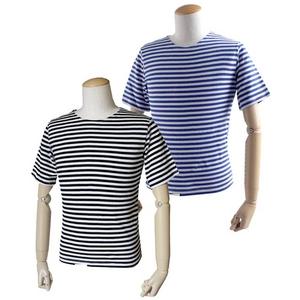 直送・代引不可ロシア軍放出 ボーダーシャツ デットストック ブルー S別商品の同時注文不可