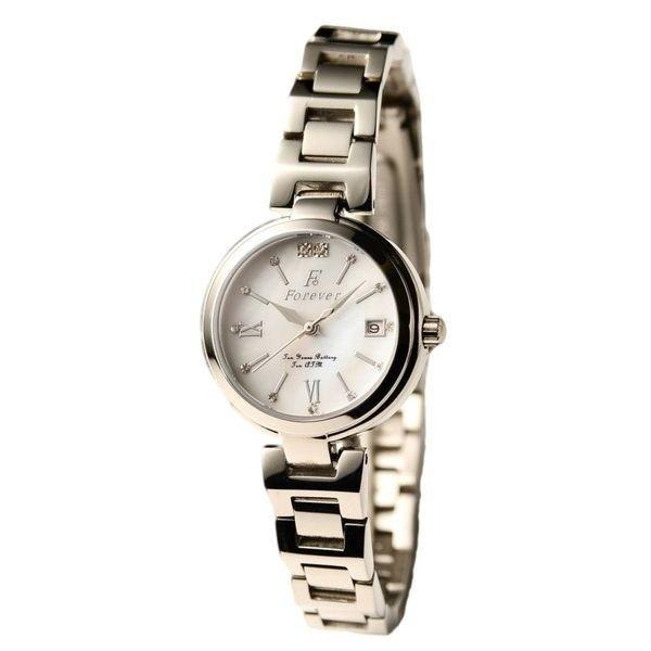 直送・代引不可Forever(フォーエバー) 腕時計 デイト付き FL-1201-8 ホワイトシェル別商品の同時注文不可