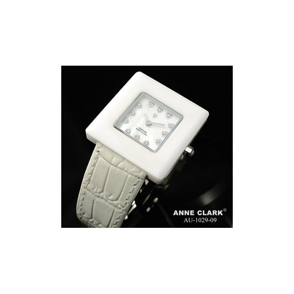 直送・代引不可 ANNE CLARK(アンクラーク) レディース ベルトウォッチ AU1029-09/ホワイト 別商品の同時注文不可