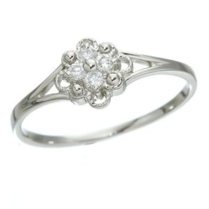 直送・代引不可プラチナダイヤリング 指輪 デザインリング3型 フローラ 17号別商品の同時注文不可