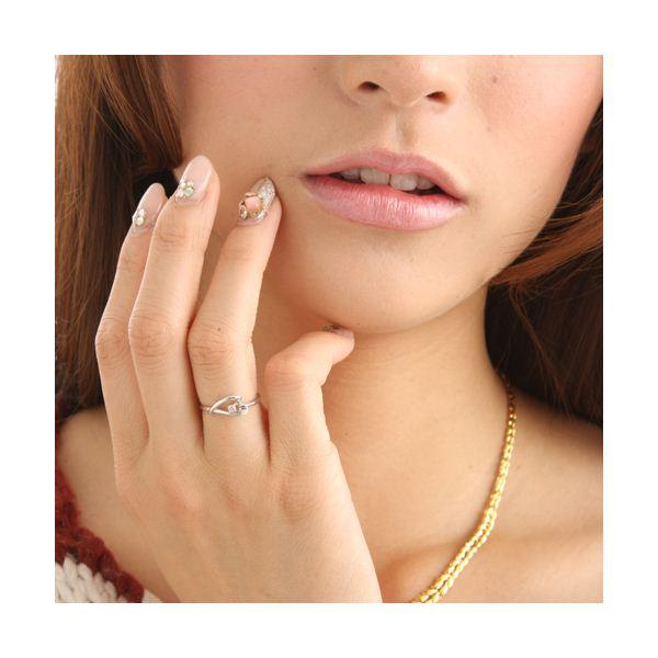直送・ピンクダイヤリング 指輪 ハーフハートリング 13号別商品の同時注文不可2WDE9IH