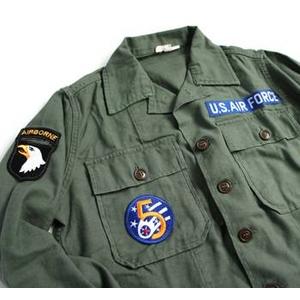 """直送・代引不可アメリカ軍 OG-107 ファティーグシャツ/長袖  柄/AIR FORCE """"B""""  別商品の同時注文不可"""