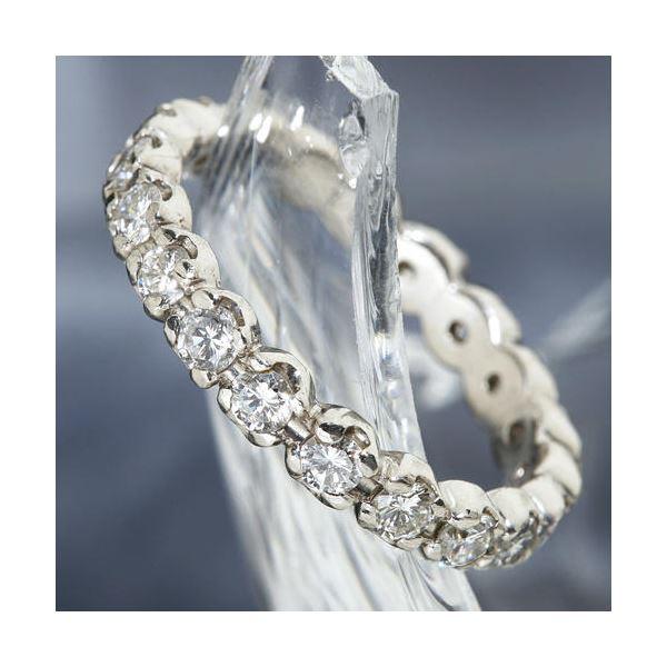 直送・代引不可プラチナPt900 /1ctフルエタニティダイヤリング 指輪 ペアリング 11号別商品の同時注文不可