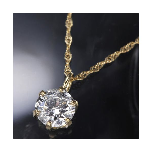 直送・代引不可K18YG0.3ctダイヤモンドペンダント/ネックレス別商品の同時注文不可