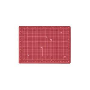 直送・代引不可(業務用100セット) プラス カッターマット A4 RD CS-A4 赤別商品の同時注文不可