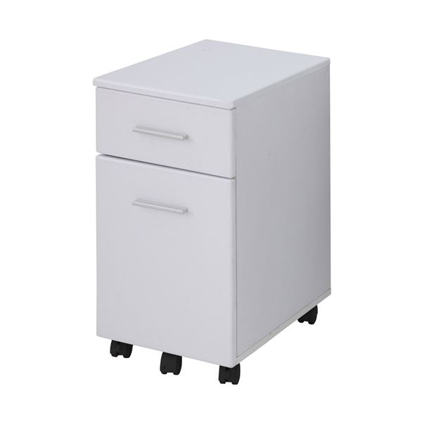 直送・代引不可あずま工芸 サイドチェスト 幅33.5×高さ60cm ホワイト EDS-1601別商品の同時注文不可