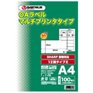 直送・代引不可 (業務用3セット) ジョインテックス OAマルチラベルE 12面100枚*5冊 A130J-5 別商品の同時注文不可