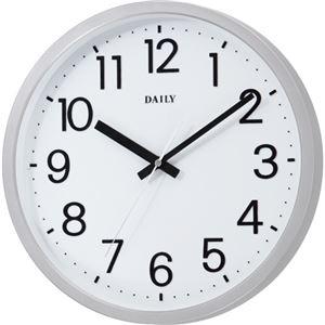 直送・代引不可(まとめ) デイリー クオーツ掛時計 フラットフェイスDN シルバーメタリック(文字盤:ホワイト) 4KGA06DN19 1台 【×2セット】別商品の同時注文不可