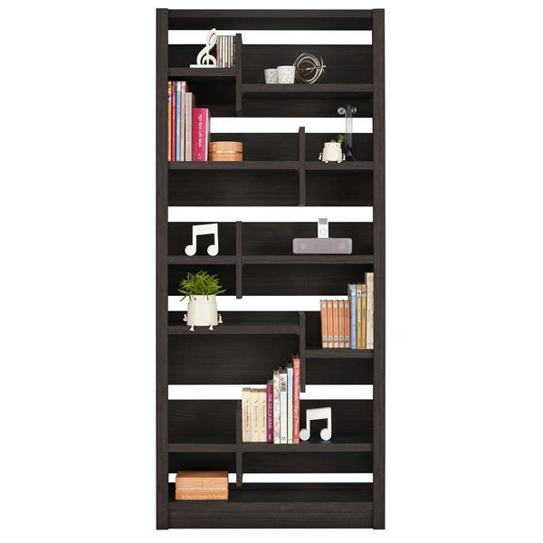 直送・代引不可ユーアイ NEO RAIDER(レイダー) 書棚85 飾り棚 ダークブラウン L-850H DBR【代引不可】別商品の同時注文不可