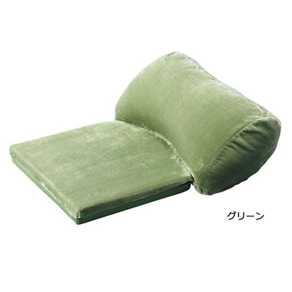 直送・代引不可うっとりクッション/大判クッション 【小】 リバーシブル仕様 グリーン(緑)別商品の同時注文不可