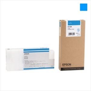 直送・代引不可 (業務用5セット) EPSON エプソン 大判インクカートリッジ 純正 【ICC60】 シアン(青) 別商品の同時注文不可