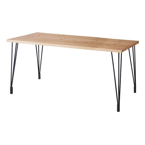 直送・代引不可ダイニングテーブル(天然木/アイアン) LEIGHTON(レイトン) ミディアムブラウン NW-114MBR別商品の同時注文不可