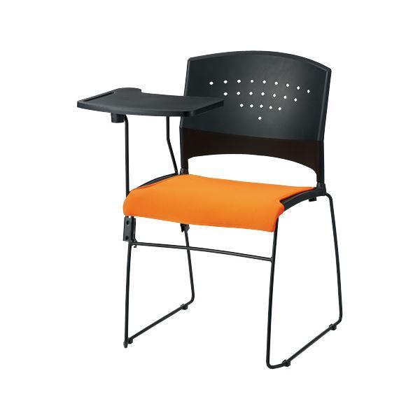 直送・代引不可 ジョインテックス 会議イス GK-CM10R オレンジ メモ台付 別商品の同時注文不可