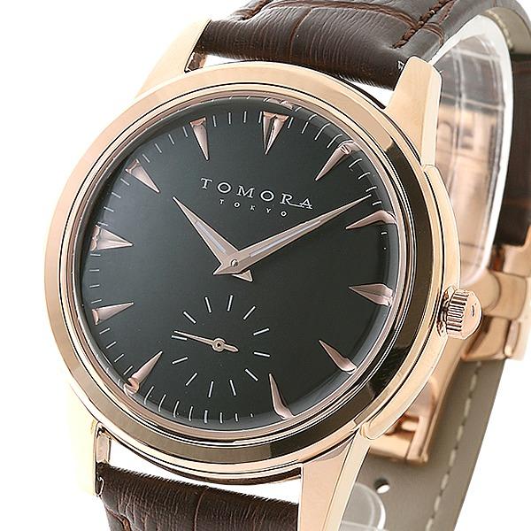 直送・代引不可 TOMORA TOKYO(トモラトウキョウ) 腕時計 日本製 T-1602-PGBK 別商品の同時注文不可