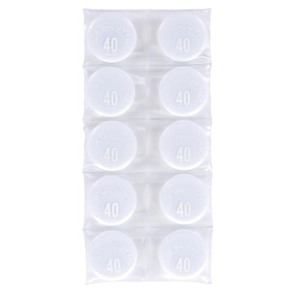 直送・代引不可(業務用50セット) ミツヤ カラーマグネット MR-40 白 40mm 10個 ×50セット別商品の同時注文不可