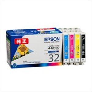 直送・代引不可(業務用5セット) EPSON エプソン インクカートリッジ 純正 【IC4CL32】 4色パック(ブラック・シアン・マゼンタ・イエロー)別商品の同時注文不可