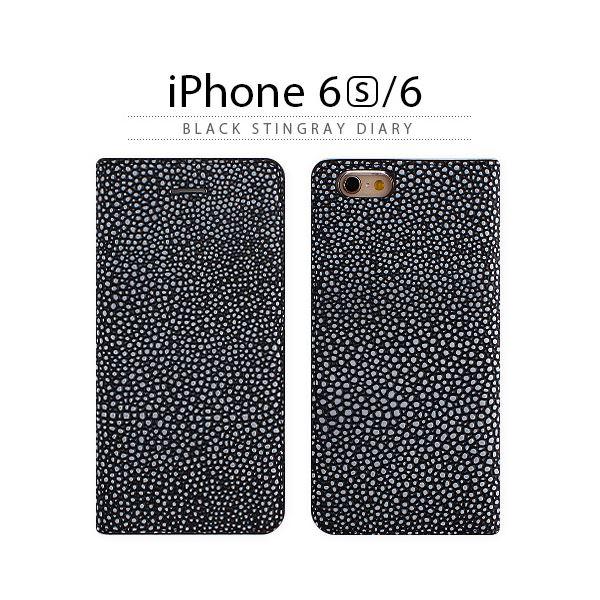 直送・代引不可GAZE iPhone6/6S Black Stingray Diary【代引不可】別商品の同時注文不可