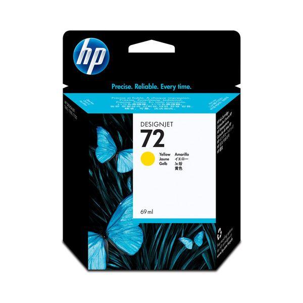 直送・代引不可(まとめ) HP72 インクカートリッジ イエロー 69ml 染料系 C9400A 1個 【×3セット】別商品の同時注文不可