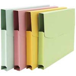 直送・代引不可(業務用100セット) ジョインテックス 紙製ケースファイルA4 3個入 緑 D072J-GR ×100セット別商品の同時注文不可
